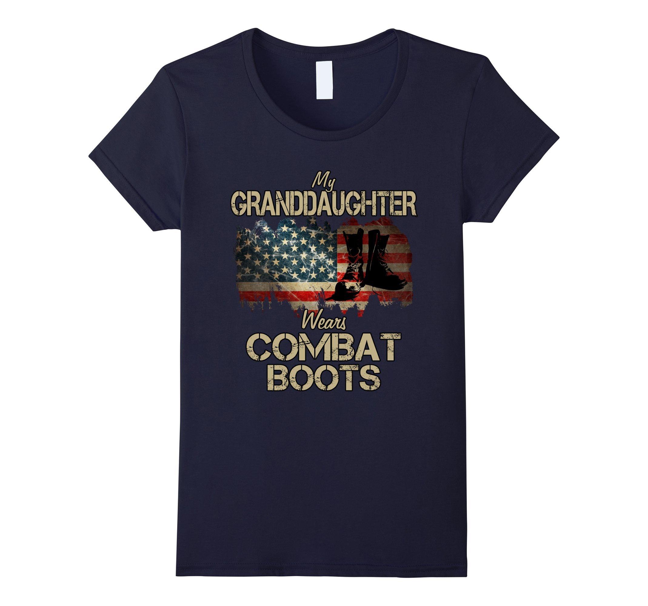 Womens My Granddaughter Wears Combat Boots Medium Navy
