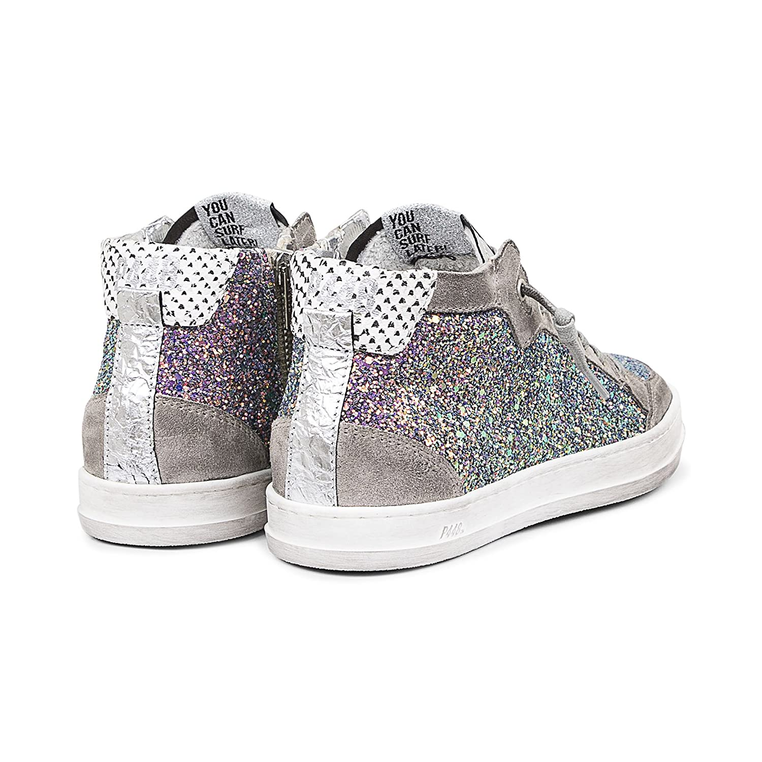P448 Women's Love Italian Leather Multicolor Glitter / Sneaker B0798ZTM9M EU 40 / Glitter US 8.5-9|Multicolor Glitter 8fbb7a