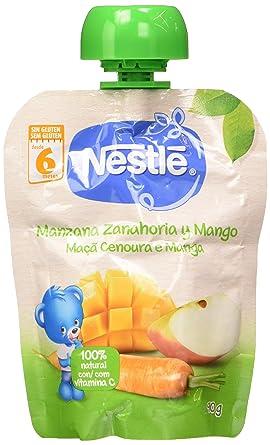 Nestlé Bolsita de puré de frutas, variedad Manzana Zanahoria ...