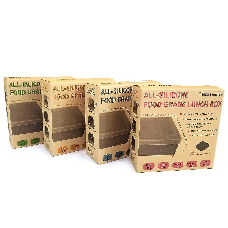 Todos los recipientes de silicona para almuerzo/caja de almuerzo ...