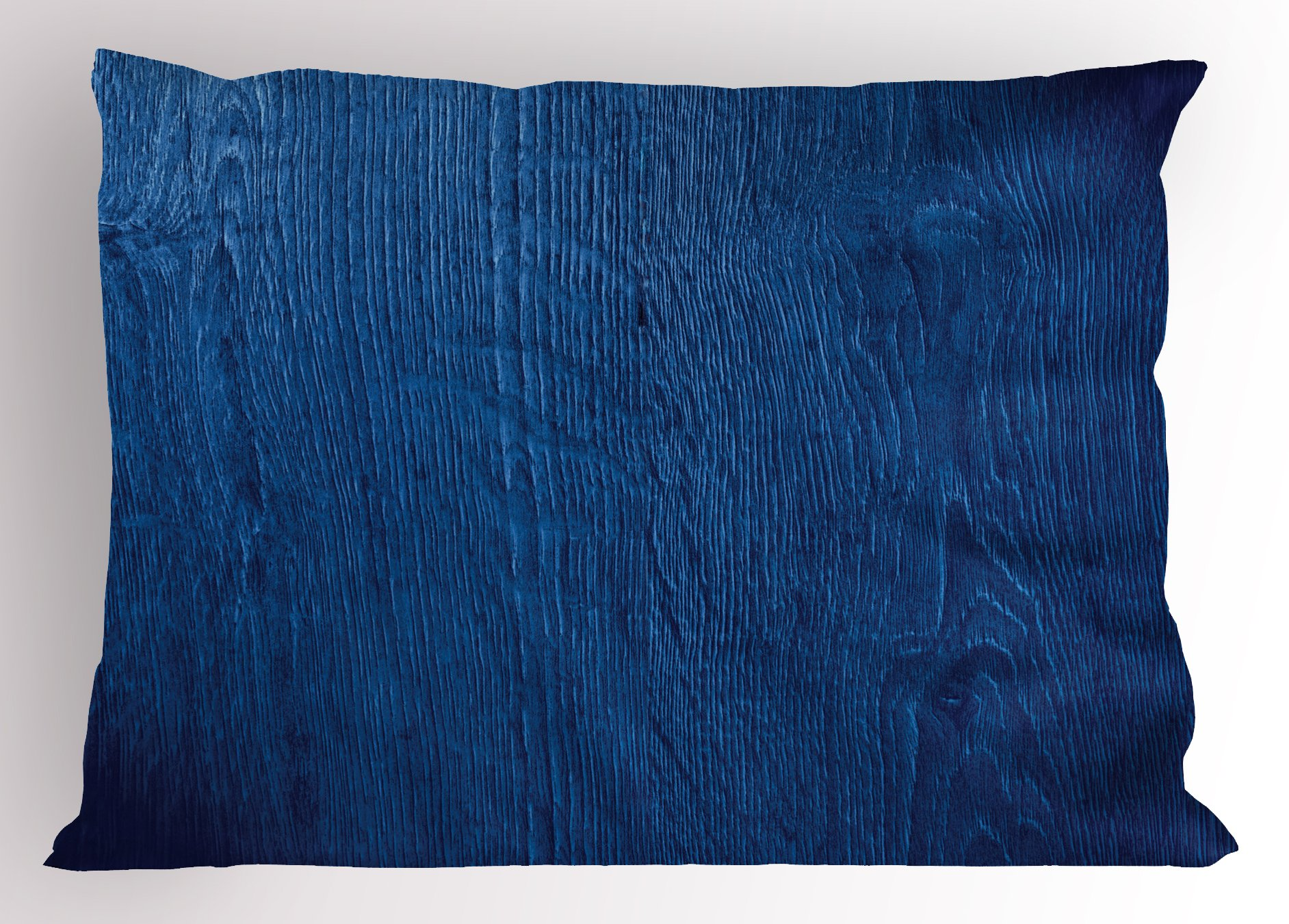 Lunarable Navy Blue Pillow Sham, Photo of Oak Wood Texture Rustic Nature Vintage Style Decorative Artprint Home, Decorative Standard Queen Size Printed Pillowcase, 30 X 20 inches, Royal Blue