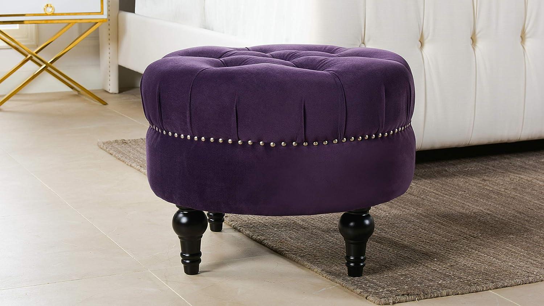 Jennifer Taylor Home 84190-864 Dawn Ottoman, Purple