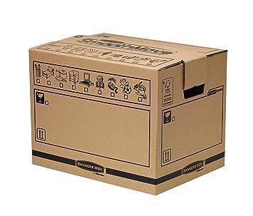 Fellowes Bankers Box - Caja para mudanza, tamaño mediano: Amazon.es: Oficina y papelería