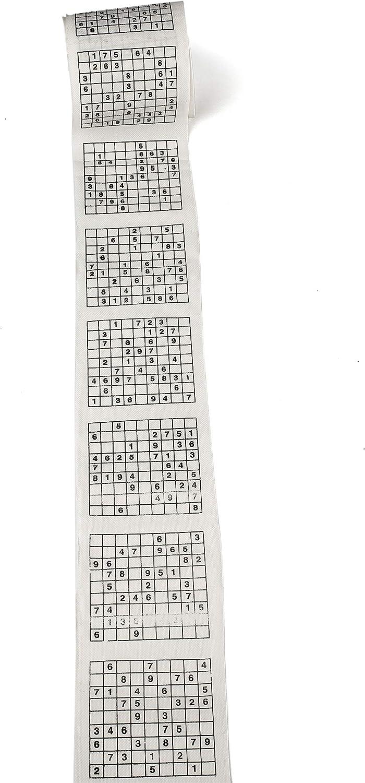 2 pk 1 Roll of Sudoku Toilet Paper Tissue Napkin Prank Fun Birthday Party Novelty Gift Idea