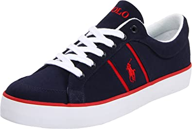Polo Ralph Lauren Bolingbrook Navy Red Mens Trainers Size 9 UK ... b839f09f47