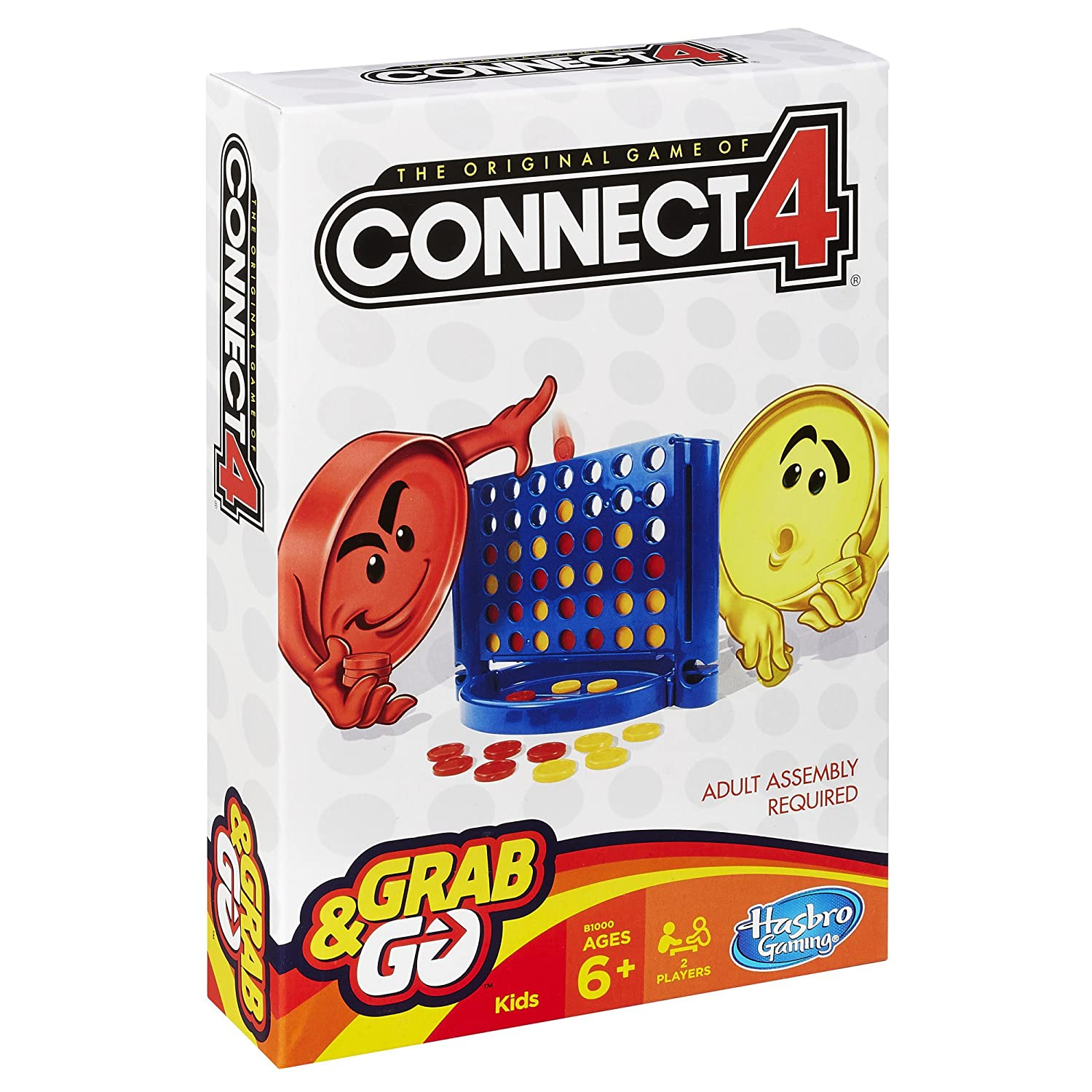 amazon com connect 4 grab and go game toys u0026 games