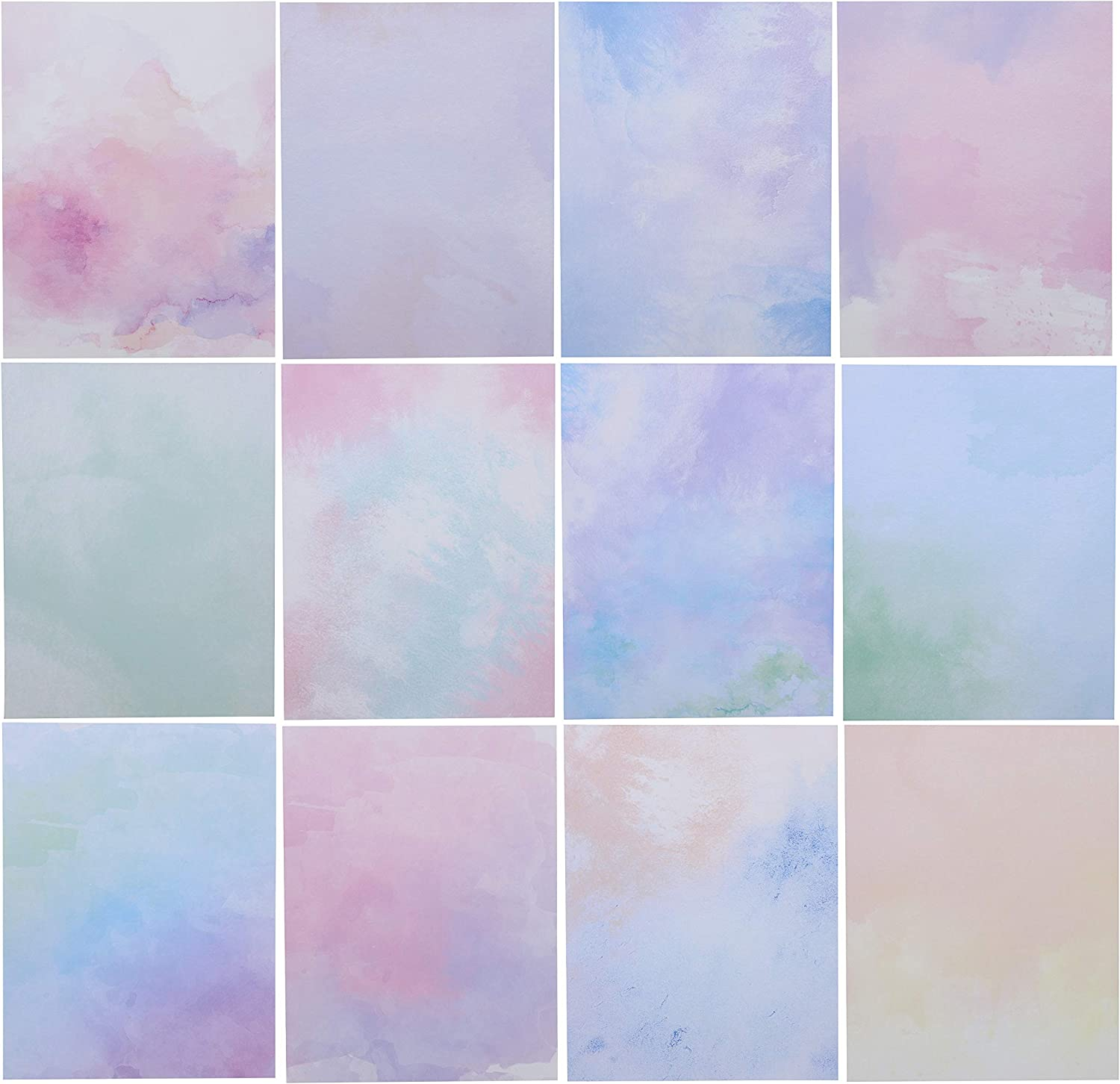Watercolor Stationery Paper (8.5 x 11 Inches, 96 Sheets)