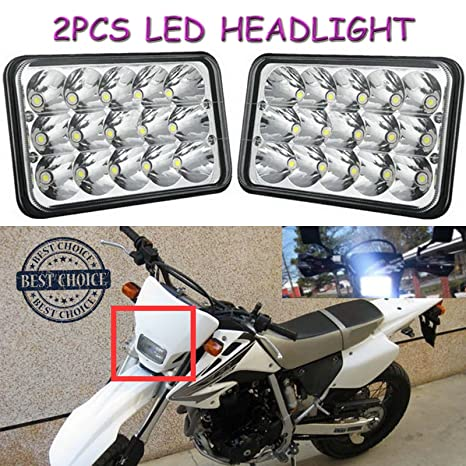 Amazon com: 4X6 LED Sealed Beam Headlights Lamps 45W For