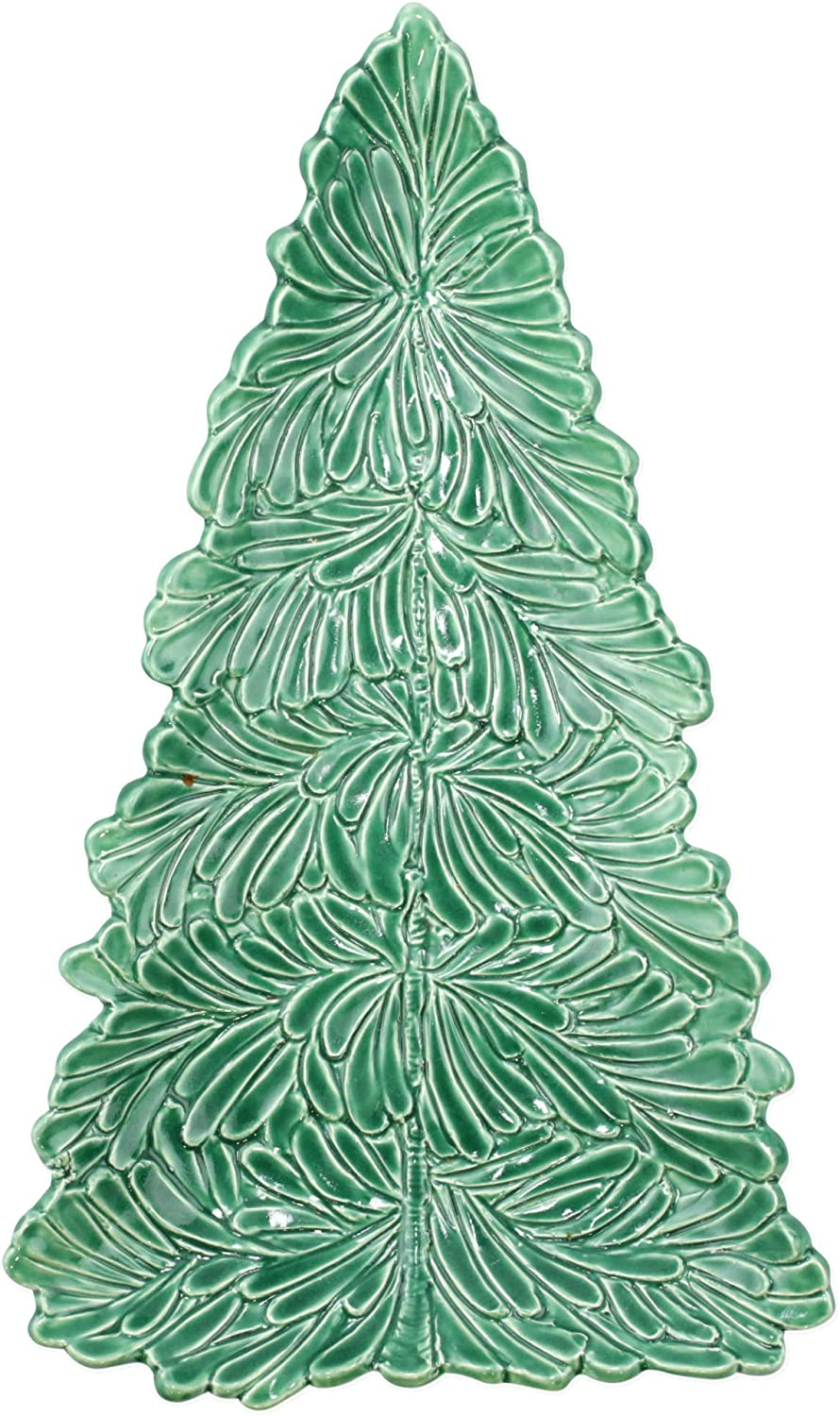 Vietri Lastra Holiday Figural Tree Small Platter - Holiday Tableware, Accents, Gifts and Decor