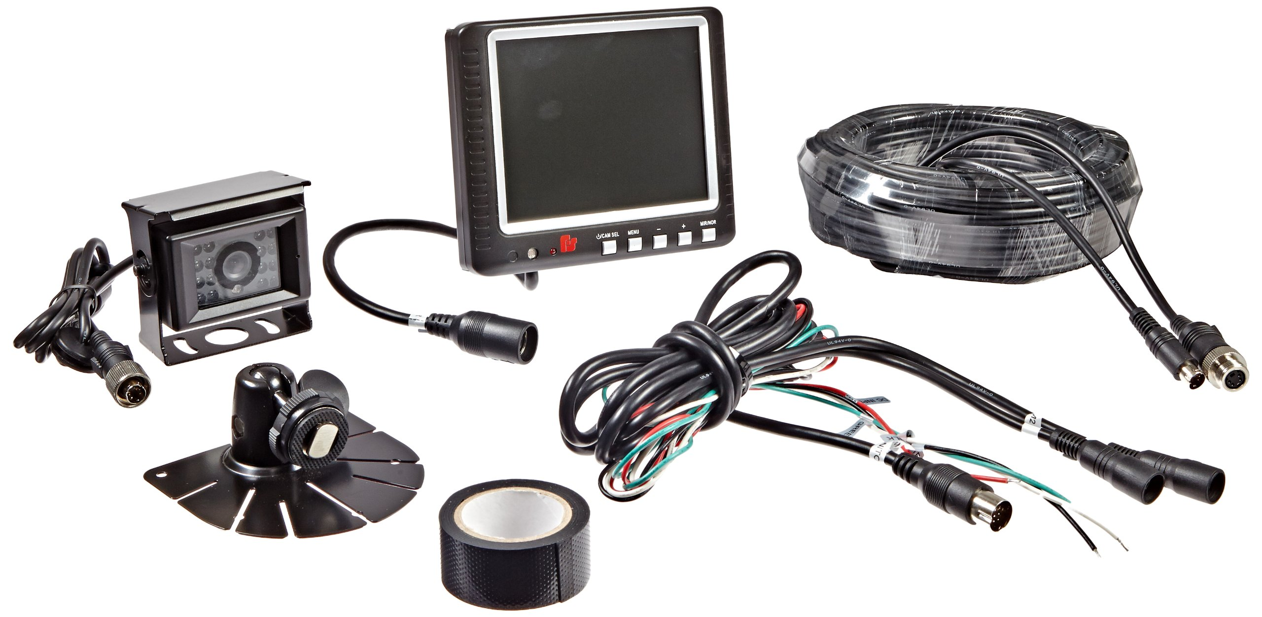 Federal Signal CAMSET56-NTSC-2 Reverse Mobile Camera System with 5.6'' Monitor and Standard Rear-View Camera