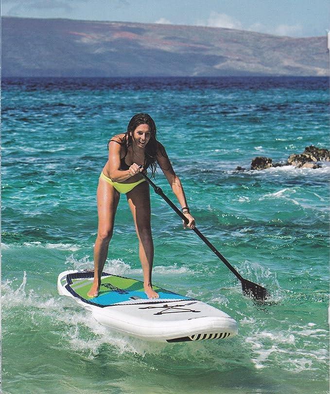 ceciinion Sup remo - 3 piezas ajustable Stand Up Paddle. Fibra de Carbono mango de fibra de vidrio, PP cable de fibra de vidrio hoja.