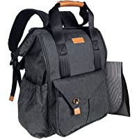 HapTim Baby Diaper Bag Backpack W/Stroller Straps- Multi-Function Designer Diaper Bags Large Capacity, Insulated Pockets…