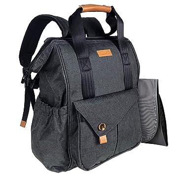 cdd170b67b4b HapTim Baby Diaper Bag Backpack W Stroller Straps- Multi-Function Designer Diaper  Bags