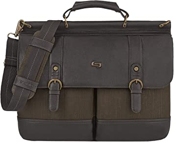 Solo New York Thompson Laptop Briefcase, Brown