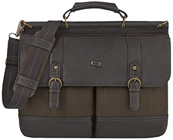 9d61a01035 Solo Thompson 15.6 Inch Briefcase with Padded Laptop Compartment, Brown