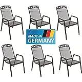 """6 x Streckmetall Stapelsessel """"Traunstein - Snail"""", MADE IN GERMANY, TÜV, GS und Gastro geprüft von MFG"""