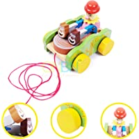 ONBN® Kids Toys Pulling Toys Wooden Eco Friendly Innovative Toys for Kids ,Kids Learning Toys Gift Toys for Girls and Boys | Toys for 2,3,4,5,6,7+ Year Old Boys and Girl (Joker Pulling Toy)