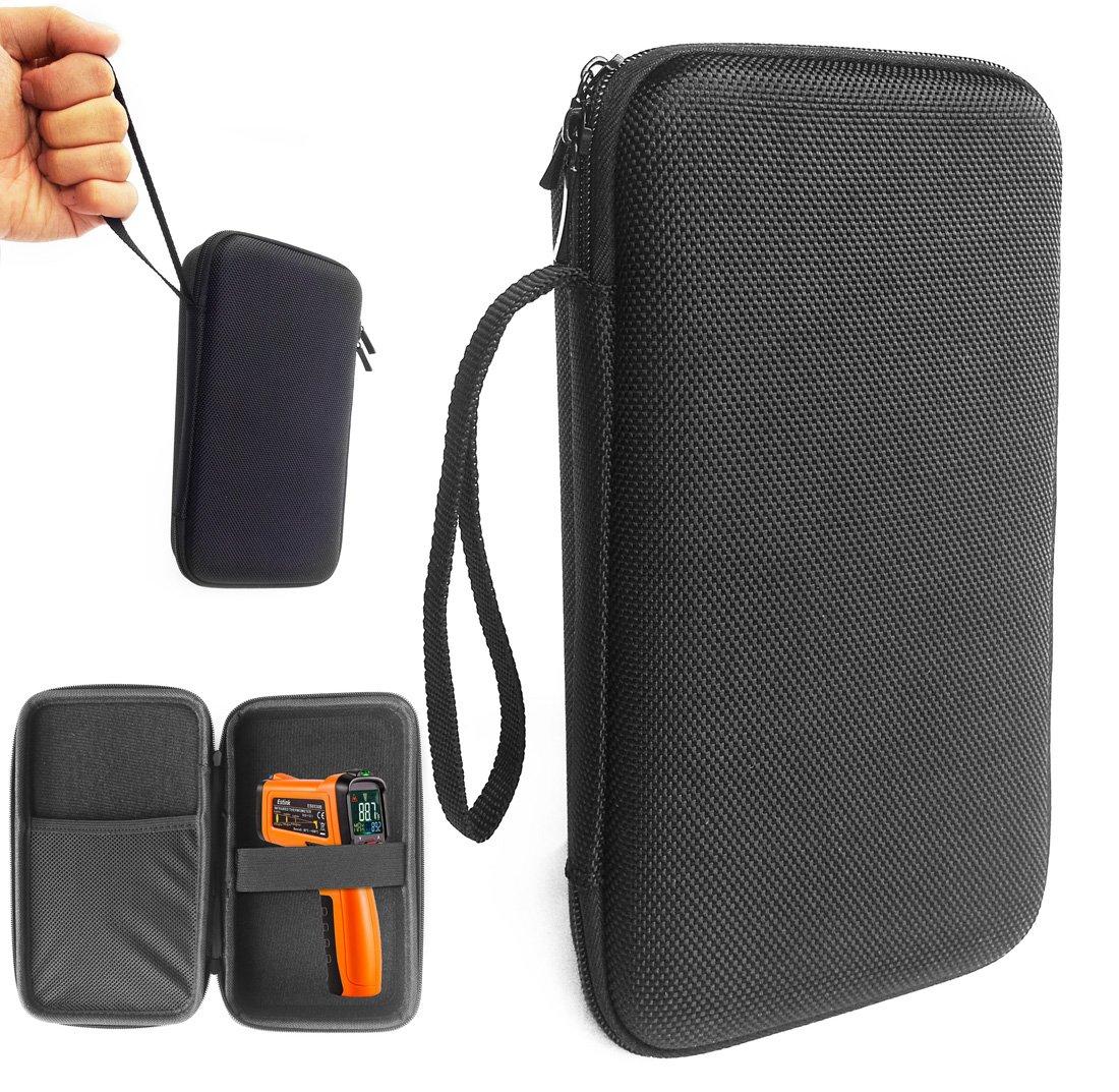 FitSand ( TM ) Travel Carryジッパーポータブル保護ハードケースカバーボックスes6530b非接触デジタルレーザー赤外線赤外線温度計温度銃 B073GJR43C