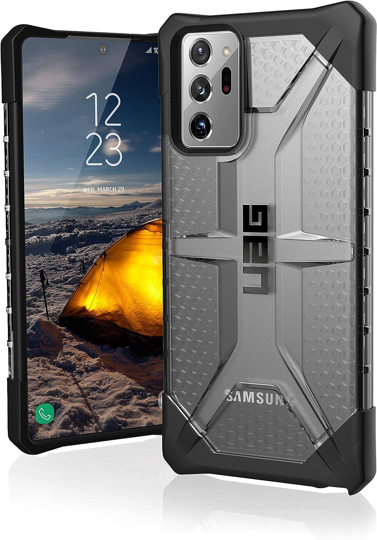 Urban Armor Gear Plasma Hülle Samsung Galaxy Note20 Ultra 5g 6 9 Zoll Offiziell Designed For Samsung Zertifiziert Wireless Charging Qi Kompatibel Ultra Slim Bumper Ash Grau Elektronik
