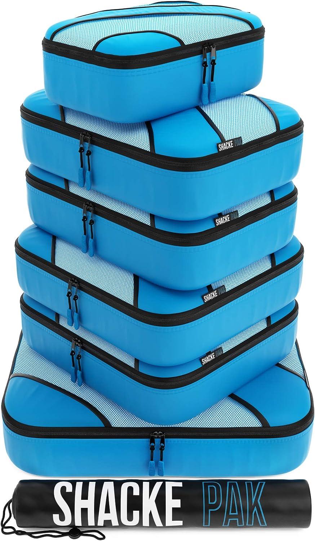 Shacke Adventurer 7pcs Packing Cube - Travel Luggage packing Organizers (Aqua Teal, Set)