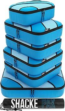 Grey, Set Travel Luggage Packing Organizers Shacke Adventurer 7pcs Packing Cube