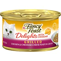 Purina Fancy Feast Wet Cat Food, Delights with Cheddar, Grilled Chicken & Cheddar Cheese Feast in Gravy, 3-Ounce Can…