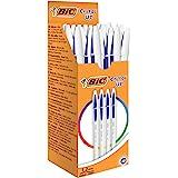 BIC Cristal UP - Pack de 20 bolígrafos, color azul
