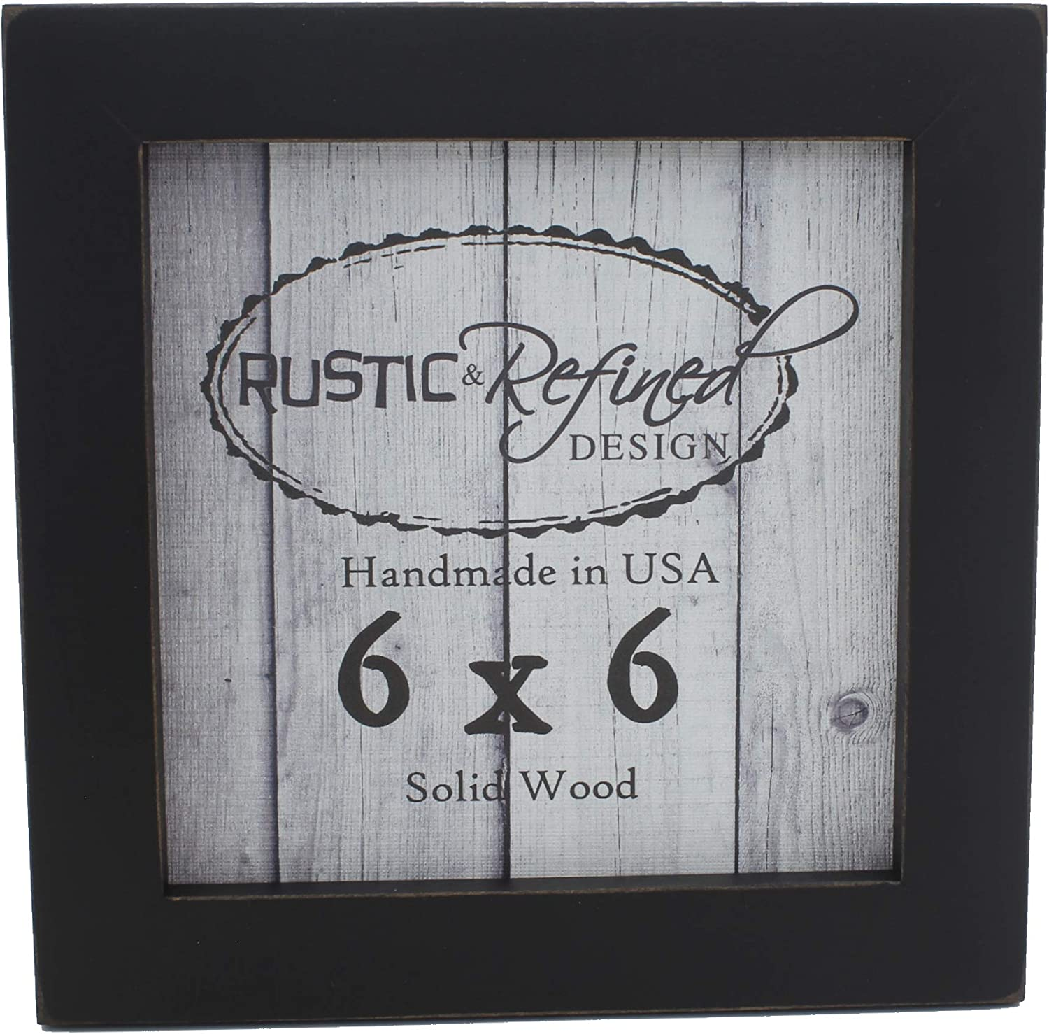 SOLID WOODEN FRAME WITH BLACK /& WHITE BORDER