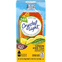 Crystal Light Lemon Iced Tea Drink Mix (60 On-the-Go Packets, 6 Packs of 10)