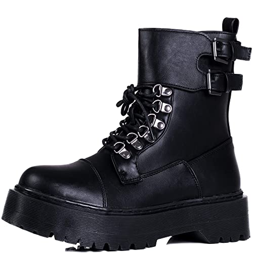 6139dfc86d6 Spylovebuy OXIGENATE Women s Extra Chunky Platform Lace Up Combat Boots   Amazon.co.uk  Shoes   Bags