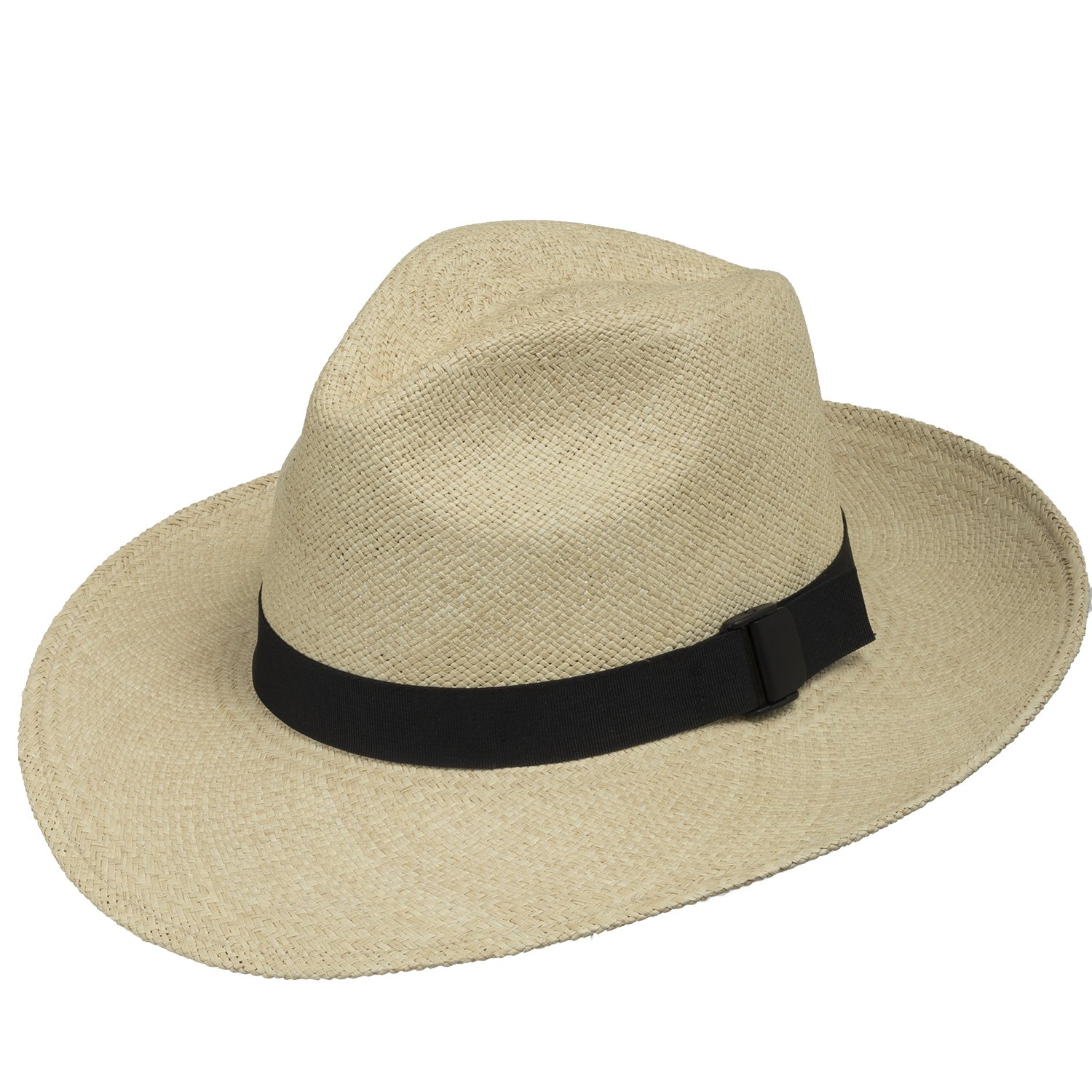 FEDORA PACKABLE FOLDABLE Panama Straw Hat CLASSIC 7 3/8 by Ultrafino