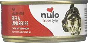 Nulo Cat Grain-Free Wet Cat Food - Beef & Lamb - 24 X 5.5Oz