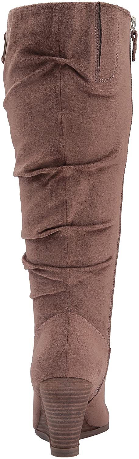 Dr. Scholl's Shoes Women's Poe Wide Calf Slouch Boot B01DF08EF4 6.5 B(M) US|Stucco Microsuede