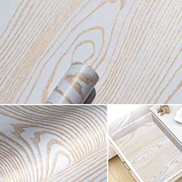 Gold Wood Wallpaper Wood Grain Peel And Stick Wallpaper White Decorative Wood Removable Self Adhesive Wall Paper Golden Texture Wood Wallpaper Vinyl Reclaimed Wood Look Wall Covering 17 7 X 78 7 Amazon Com