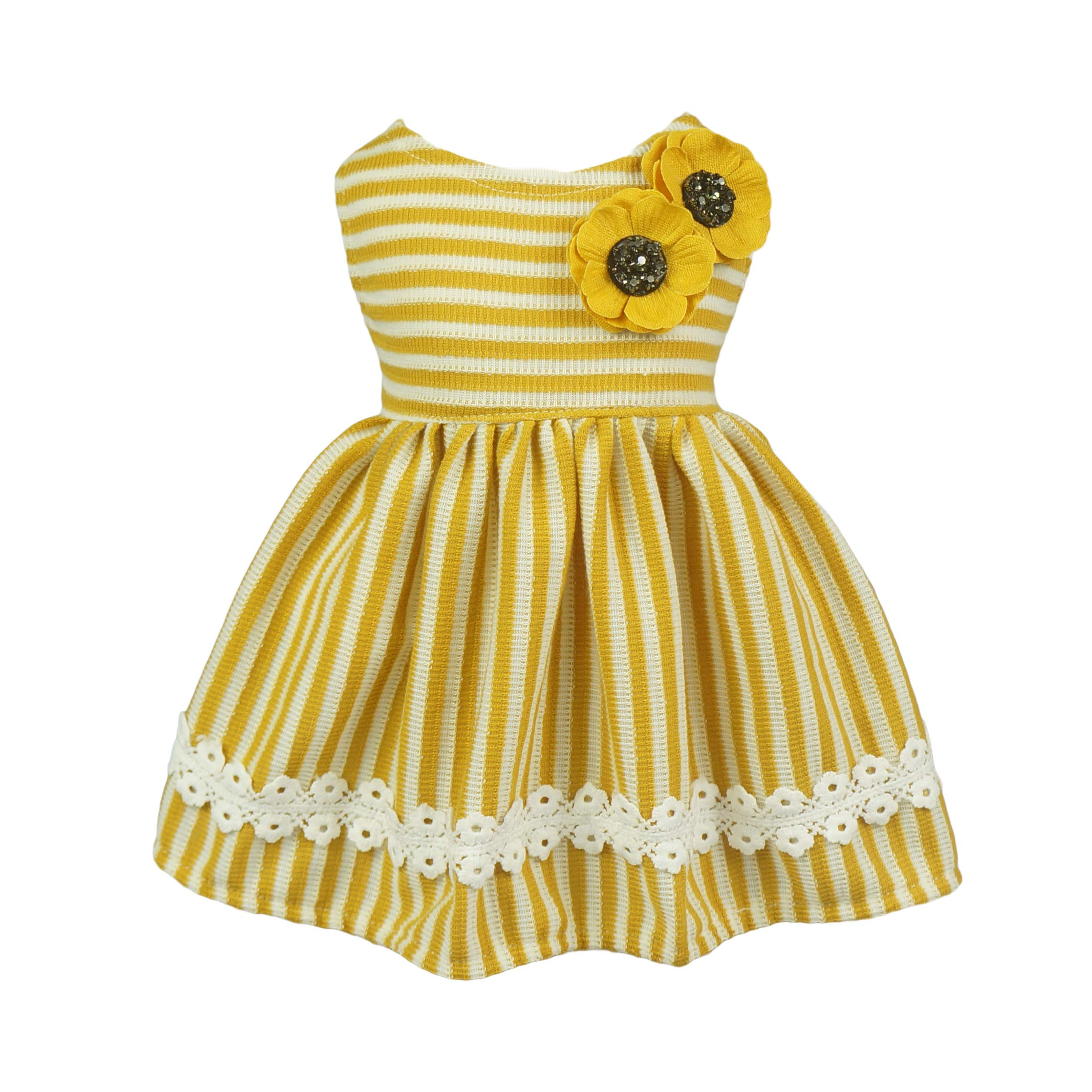 Fitwarm Flowers Pet Clothes for Dog Dresses Vest Shirts Sundress Mustard Yellow Medium by Fitwarm