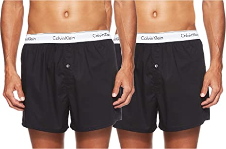 Calvin Klein 2p Slim Fit Boxer, Multicolor (Black/black), Large (Pack de 2) para Hombre: Amazon.es: Ropa y accesorios