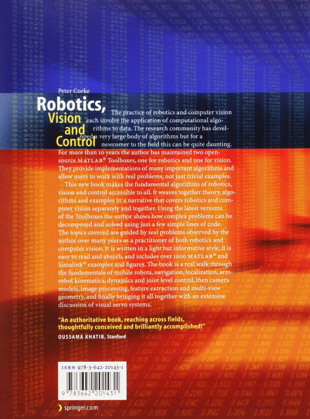Robotics, Vision and Control: Fundamental Algorithms in MATLAB