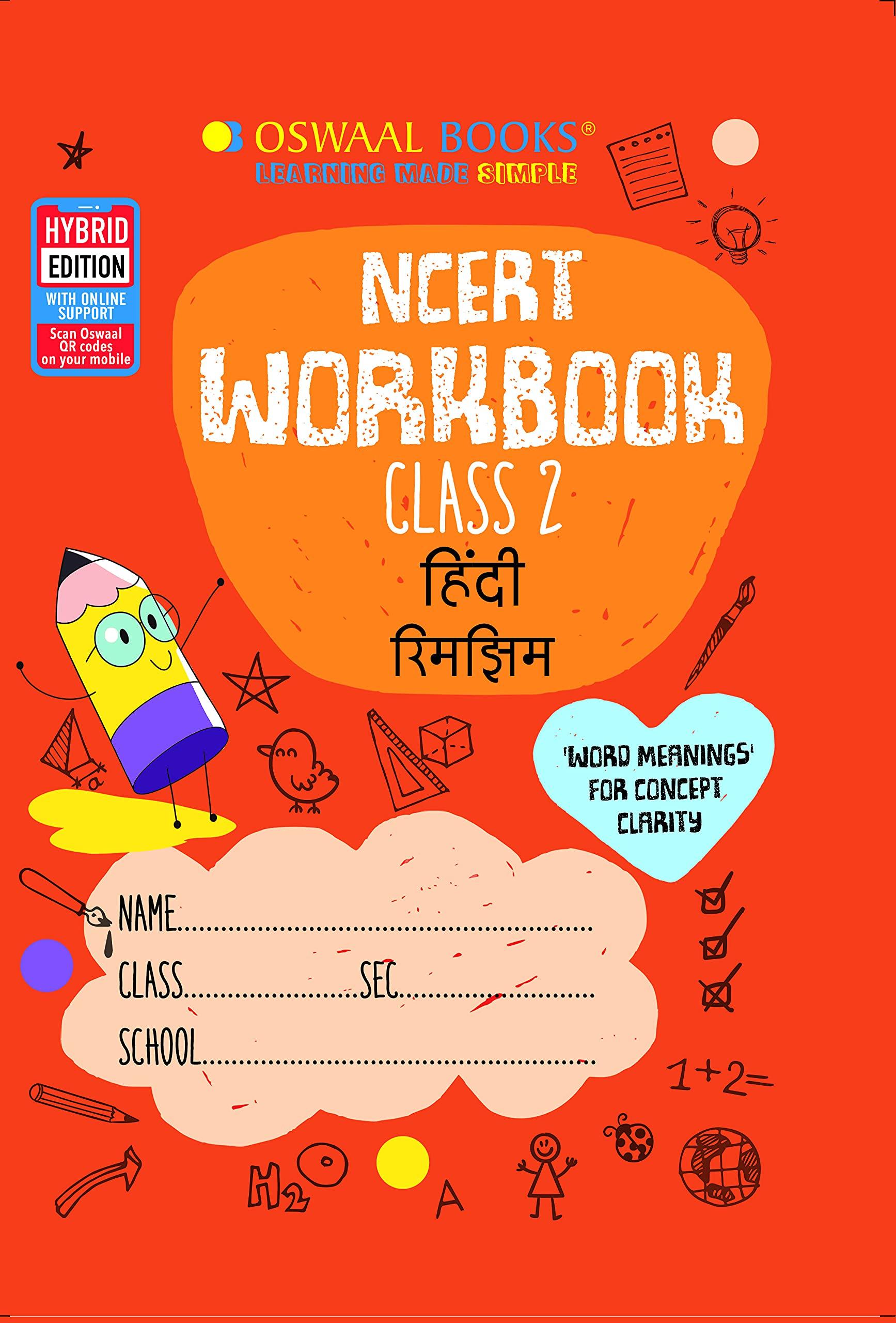 Oswaal NCERT Workbook Class 2, Hindi (For 2022 Exam)