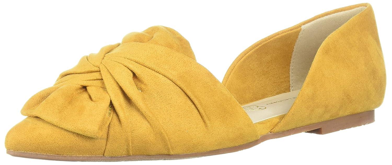 BC Footwear Women's Snow Cone Ballet Flat B0733TJ3S8 10 B(M) US|Mustard V-suede