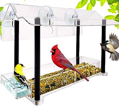 Nature Gear Pure View Hanging Window Bird Feeder