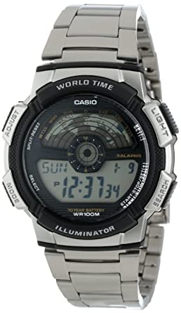 Amazon Com Casio Men S Ae1100wd 1a Sport Multi Function Grey Dial