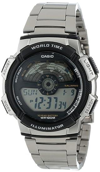 Casio AE1100WD-1A - Reloj de Pulsera Hombre, Acero ...