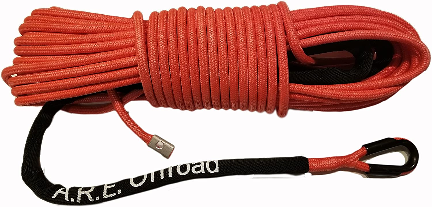 Arachni Recovery Equipment Synthetic Winch Rope Line Cable 7//16 x 100 30,000 LB Capacity W//Sheath Blue 3 Year Warranty
