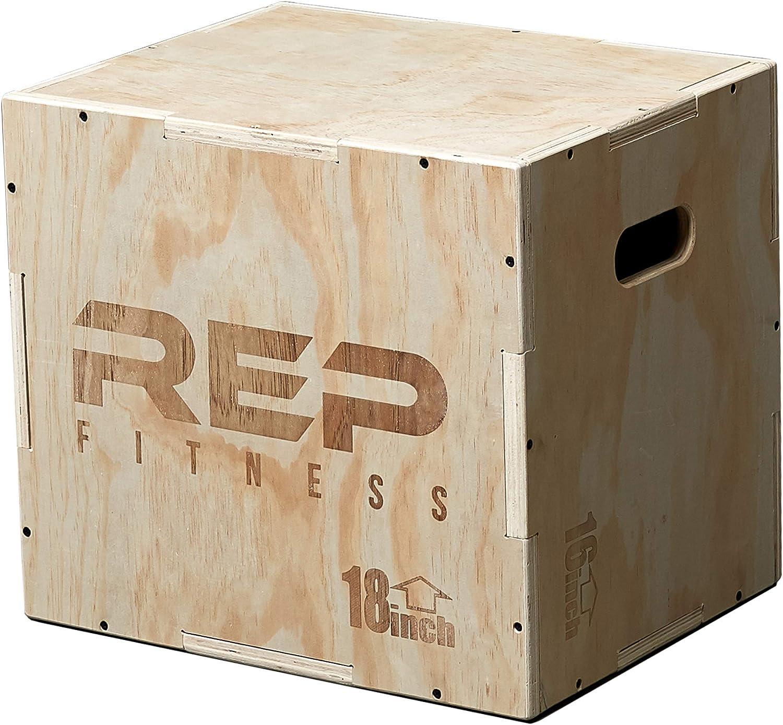 Rep 3 en 1 madera pliométricos Caja para Crossfit y acondicionado 30/24/20, 24/20/16, 16/14/12: Amazon.es: Deportes y aire libre