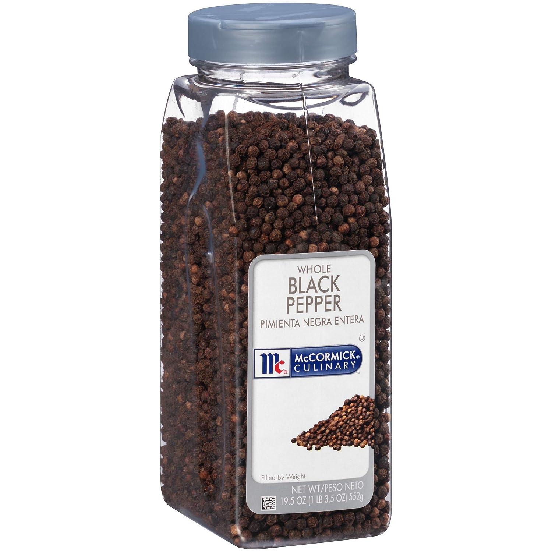 McCormick Culinary Whole Black Pepper, 19.5 oz