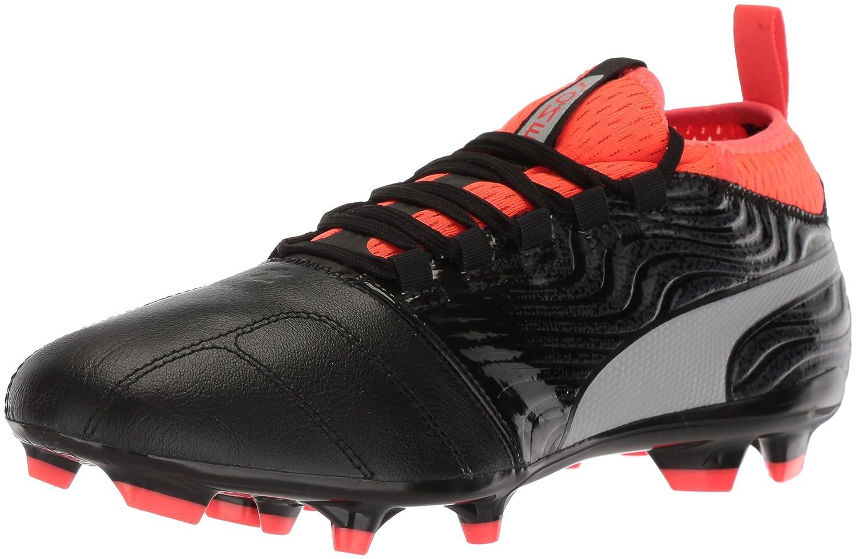 PUMA Men's One 18.3 FG Soccer-Schuhes, schwarz Silver-ROT Blast, 8 M US