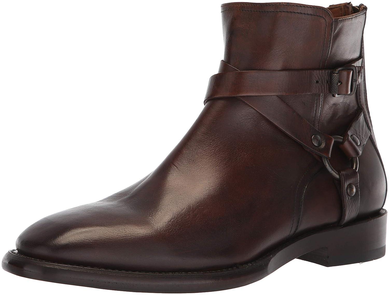 FRYE Men's Weston Cross Strap Fashion Stiefel, Dark braun, 8.5 M -