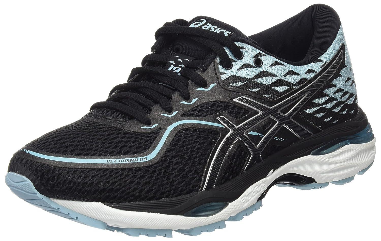 Asics Gel-Cumulus 19, Zapatillas de Running para Mujer 41.5 EU|Multicolor (Black/Porcelain Blue/White 9014)