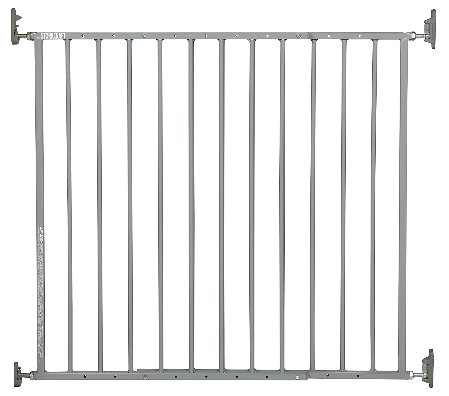 Storkcraft Easy Walk-Thru Adjustable Width 28.3' - 45.98' Metal Safety Gate for Baby Dog Cat or Other Pets with One-Hand Quick-Release Lock, Black, 29' Tall 29 Tall Stork Craft 01740-02B