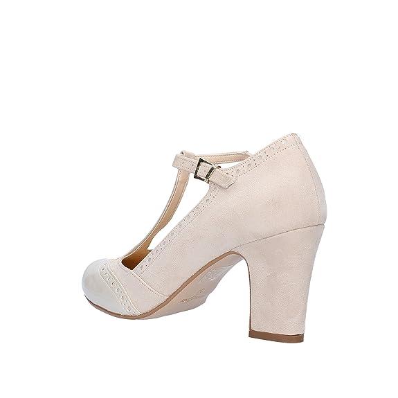 OLGA RUBINI Chaussures Élégantes Femme 35 EU Marron Cuir Synthétique AF121 - B K1gxO18tet